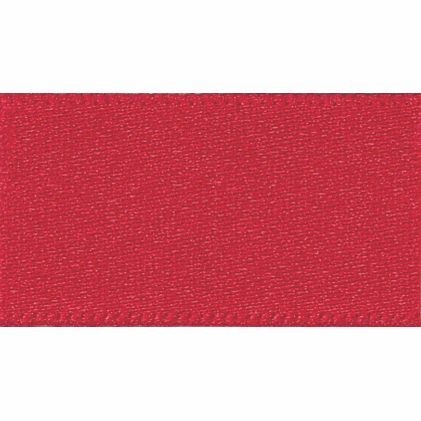 Satin Ribbon - Red - 3mm - The Village Haberdashery