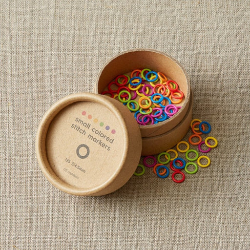 Small Coloured Stitch Markers by Cocoknits - The Village Haberdashery