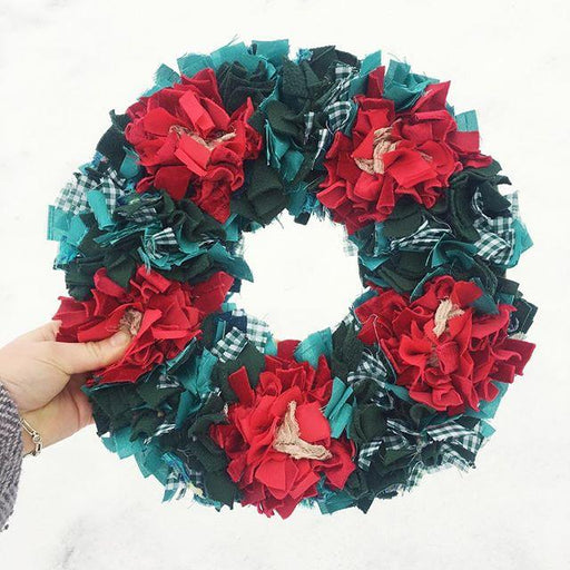 Rag Rug Wreath with Elspeth Jackson - The Village Haberdashery