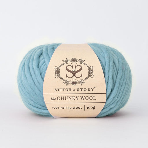 Stitch & Story The Chunky Wool - Robin Egg Blue - 28 - The Village Haberdashery
