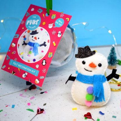 The Make Arcade Christmas Felt Ornament Sewing Kit - Stan Snowman - The Village Haberdashery