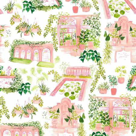 White Orangerie Cotton from Orangerie by Caitlin Wallace-Rowland - The Village Haberdashery