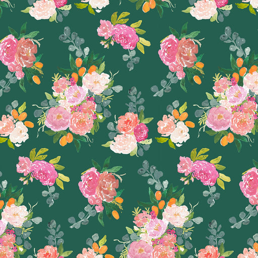Forest Bouquets Cotton from Orangerie by Caitlin Wallace-Rowland
