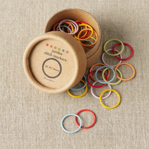 Jumbo Coloured Stitch Markers by Cocoknits - The Village Haberdashery