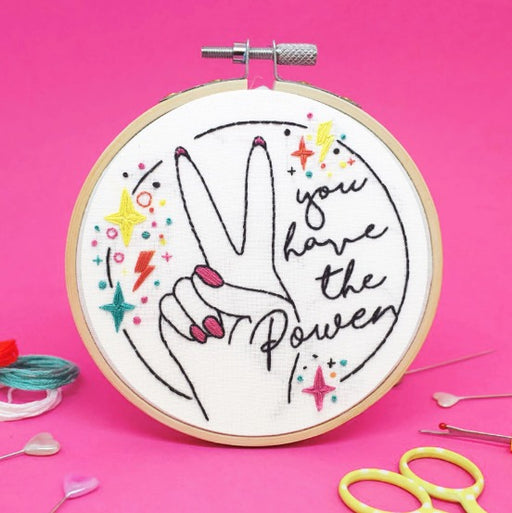 The Make Arcade - 'You have the Power' Mini Embroidery Kit - The Village Haberdashery