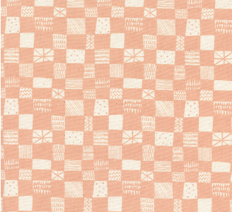 Print Shop by Alexia Abegg - Grid Peach - The Village Haberdashery