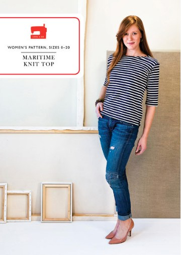 Liesl + Co - Maritime Knit Top Sewing Pattern - PDF - The Village Haberdashery