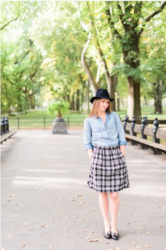 Liesl + Co - Everyday Skirt Sewing Pattern - PDF - The Village Haberdashery