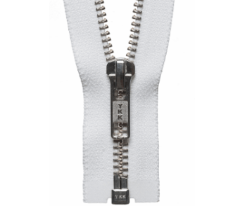 Nickel Free Open End Zip - White - 51cm - The Village Haberdashery