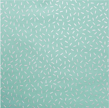 Wonderland PVC - Strokes in Mint and Hot Foil - The Village Haberdashery