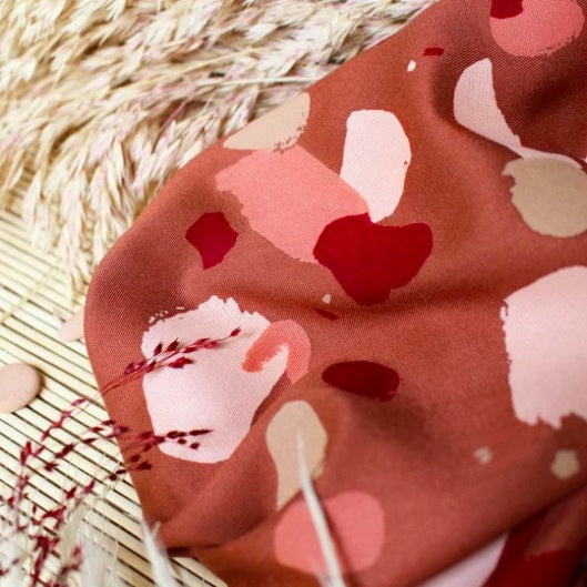Chestnut Granito Viscose by Atelier Brunette - The Village Haberdashery