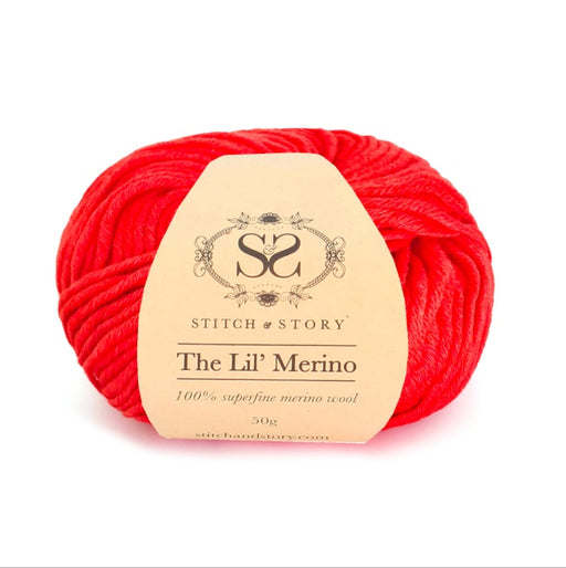 Stitch & Story The Lil' Merino Baby Wool - Tulip Red - 518 - The Village Haberdashery