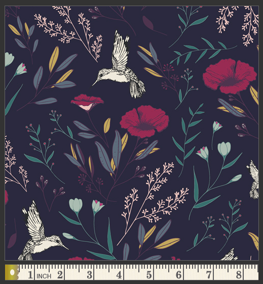 Mystique Magical Fauna Cotton from Mystical Land by Maureen Cracknell - The Village Haberdashery