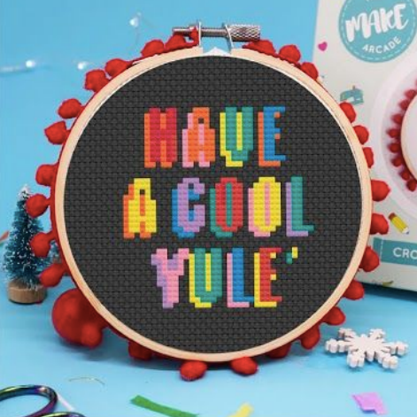 The Make Arcade Christmas Cross Stitch Kit - Cool Yule - The Village Haberdashery