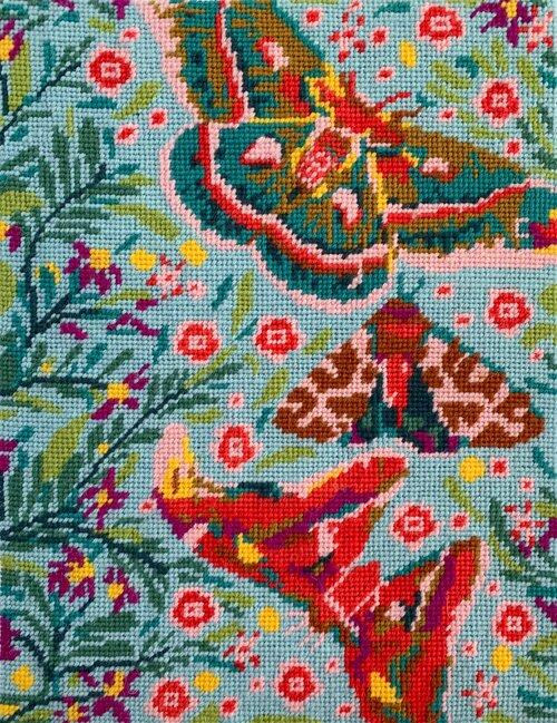 Anna Maria Horner Needlepoint Kit - Winged Waterfall - The Village Haberdashery