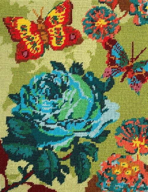 Anna Maria Horner Needlepoint Kit Cabbage Rose - The Village Haberdashery