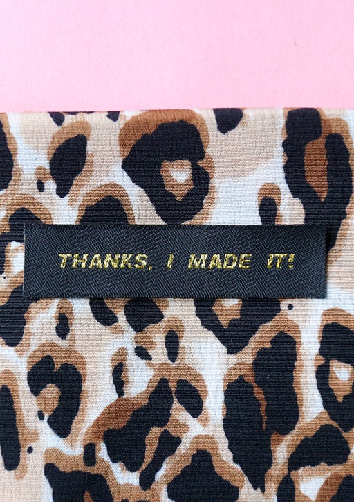 Crafty Pinup - 'Thanks I Made It' Woven Label Pack - The Village Haberdashery
