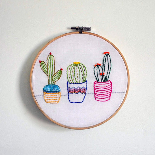 Oz & Belle Embroidery Kit - Three Cactus - The Village Haberdashery