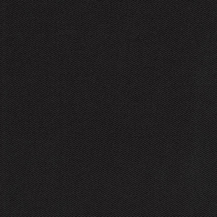 Black Ventana Cotton Twill - The Village Haberdashery