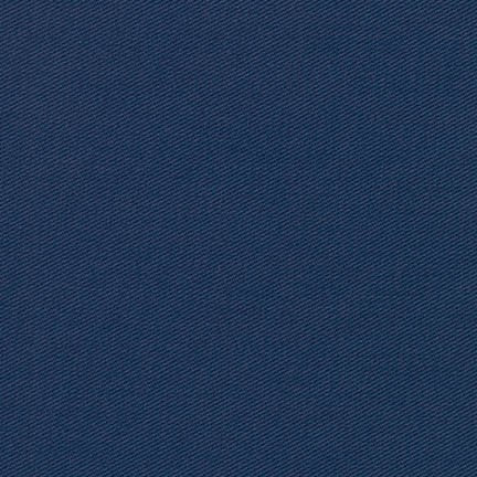 Navy Ventana Cotton Twill - The Village Haberdashery