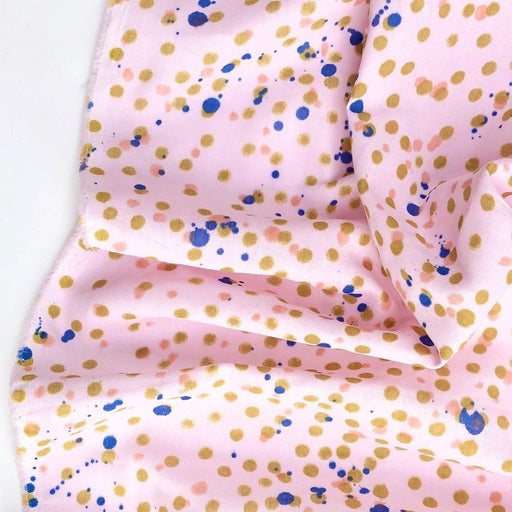 Crafted Nature Dots & Splatter in Pink Double Gauze - The Village Haberdashery