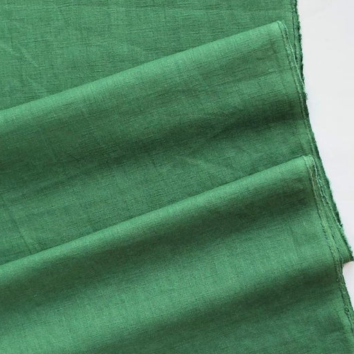 Enzyme Washed Linen - Green - The Village Haberdashery