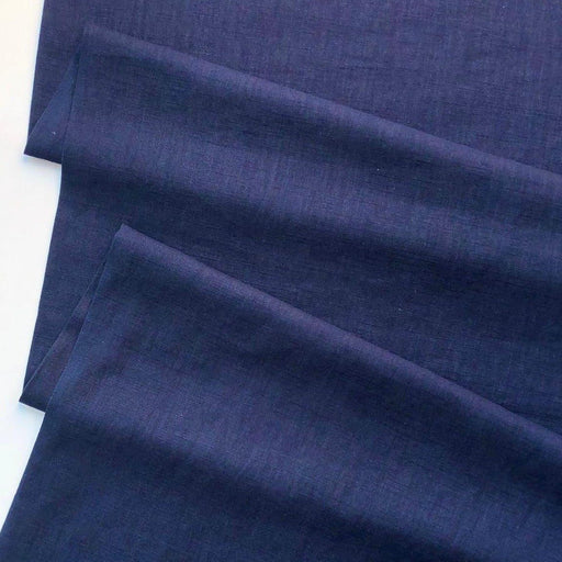 Enzyme Washed Linen - Navy - The Village Haberdashery