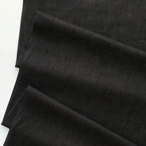 Enzyme Washed Linen - Black - The Village Haberdashery