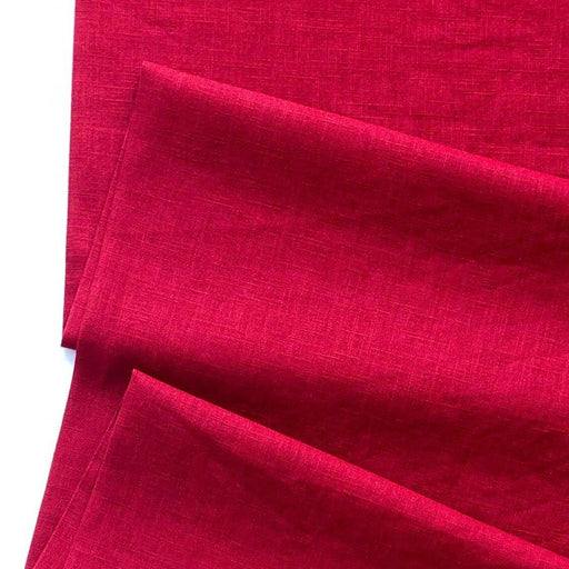 Enzyme Washed Linen - Dark Red - The Village Haberdashery