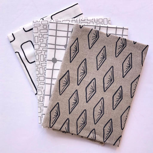 Colette Moscrop Fat Quarter Bundle - Monochrome - The Village Haberdashery