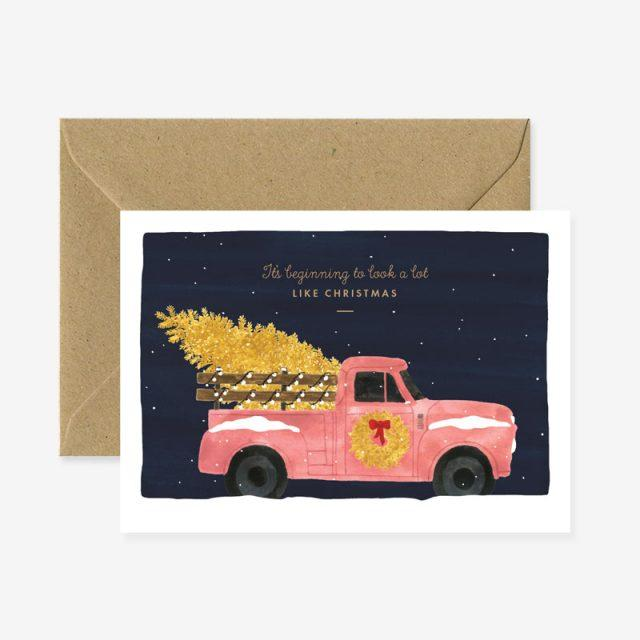 'Christmas Truck' Christmas Card by All the Ways to Say - The Village Haberdashery