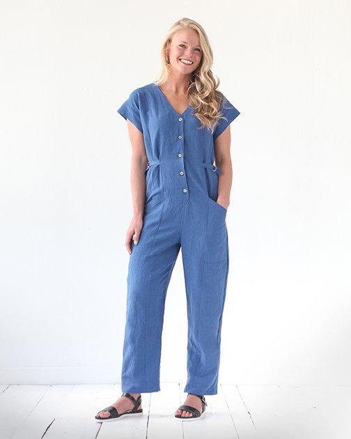 True Bias - Yari Jumpsuit - The Village Haberdashery