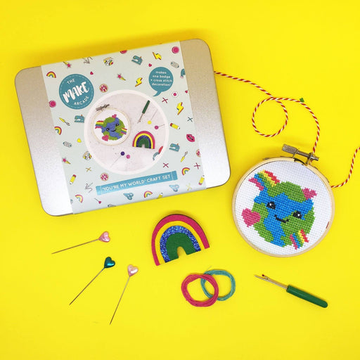 The Make Arcade Craft Tin - You're My World - The Village Haberdashery