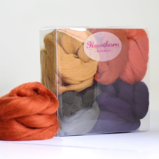 Felting & Spinning Wool - Autumn Merino Bundle - The Village Haberdashery