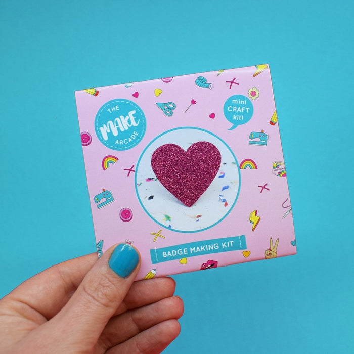 Heart Badge Making Kit by The Make Arcade Cute - The Village Haberdashery