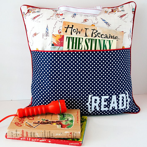 April Holiday Class - Book Pocket Cushion - 9 April - The Village Haberdashery