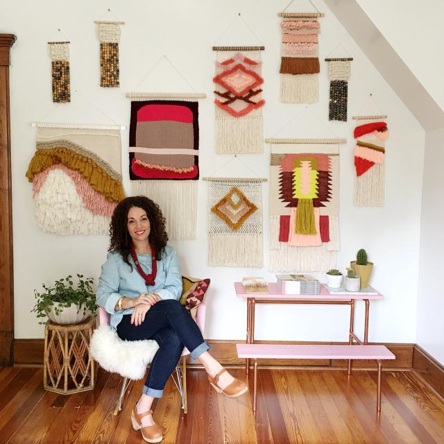 DIY Woven Art by Rachel Denbow - The Village Haberdashery