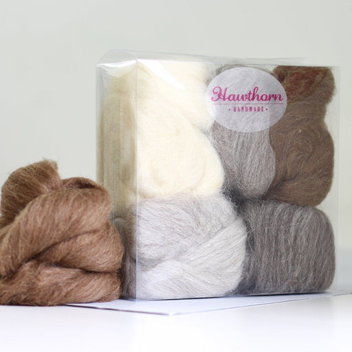 Felting & Spinning Wool - British Breeds Bundle No. 1 - The Village Haberdashery