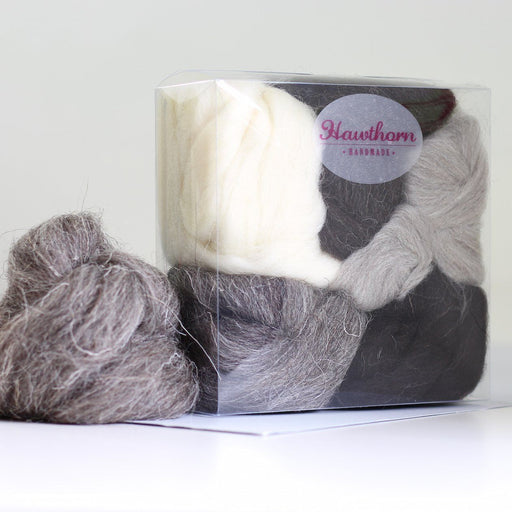 Felting & Spinning Wool - British Breeds Bundle No.3 - The Village Haberdashery