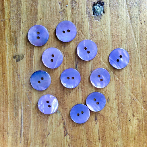 Lilac Agoya Shell Buttons - 15mm - The Village Haberdashery