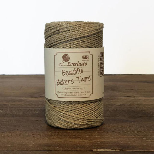 Everlasto Baker's Twine - Gold Sparkle - The Village Haberdashery