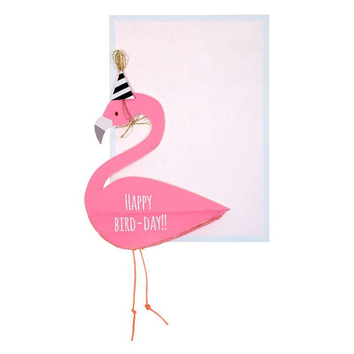 'Flamingo Honeycomb' Birthday Card by Meri Meri - The Village Haberdashery