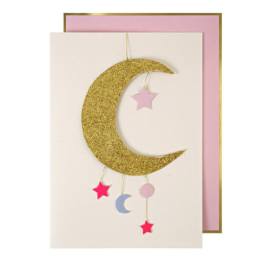 'Hanging Mobile' New Baby Girl Card by Meri Meri - The Village Haberdashery