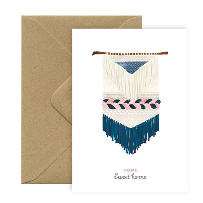'Macrame Home Sweet Home' Card by All the Ways to Say - The Village Haberdashery