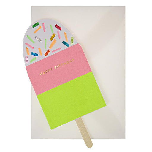 'Neon Popsicle' Birthday Card by Meri Meri - The Village Haberdashery