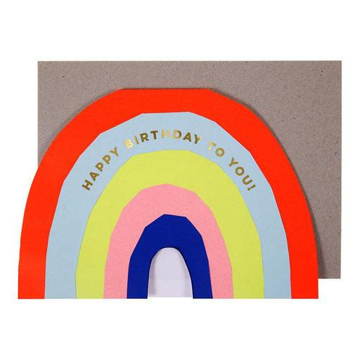 'Neon Rainbow' Birthday Card by Meri Meri - The Village Haberdashery