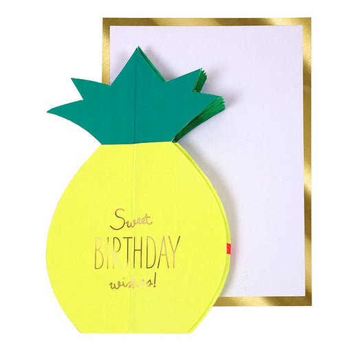 'Pineapple Honeycomb' Birthday Card by Meri Meri - The Village Haberdashery