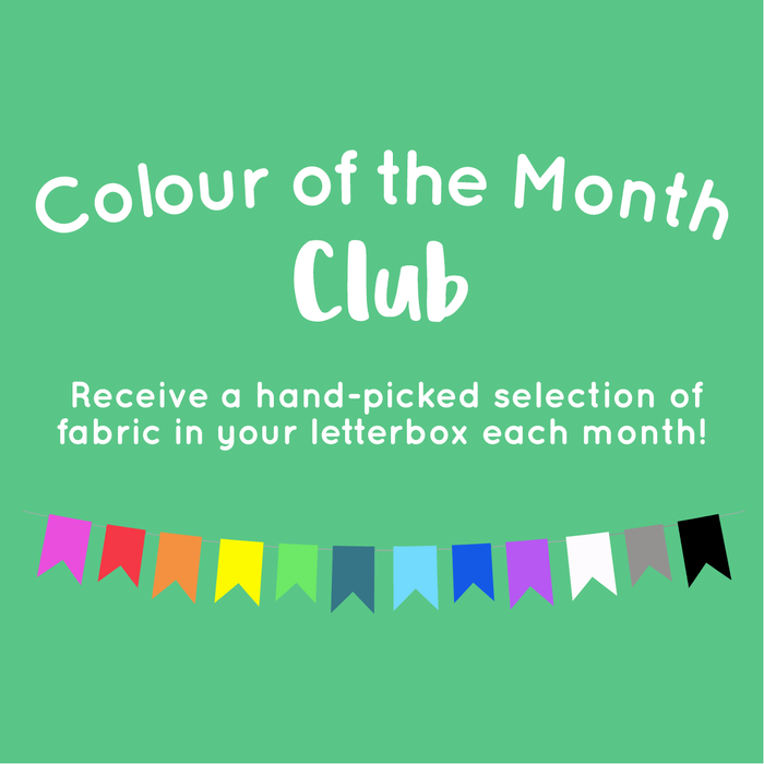 Colour of the Month Club Bundle - Designer Stash Builders - 5 Fat Quarters - The Village Haberdashery