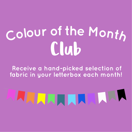 Colour of the Month Club Bundle - Designer Stash Builders & Konas - 5 Fat Quarters - The Village Haberdashery