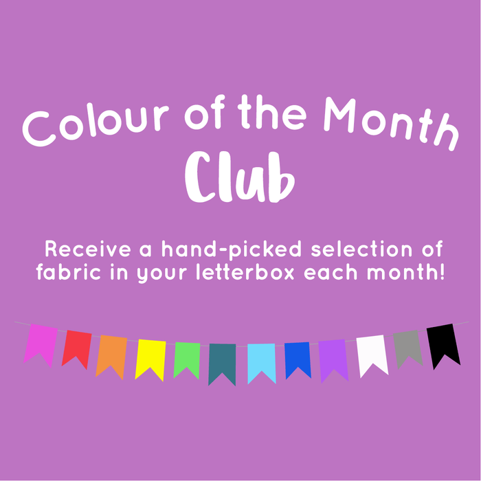 Colour of the Month Club Bundle - Designer Stash Builders & Konas - 5 Half Metres - The Village Haberdashery